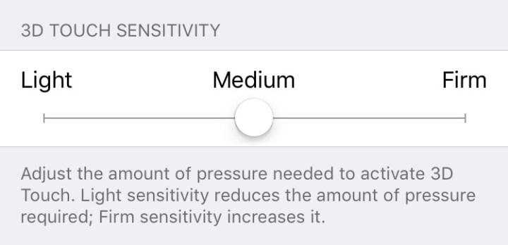 iPhone 3d touch sensitivity
