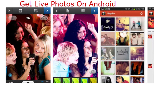get live photos on android