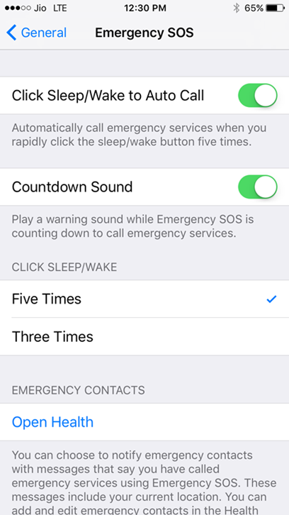 click sleep or wake to autocall