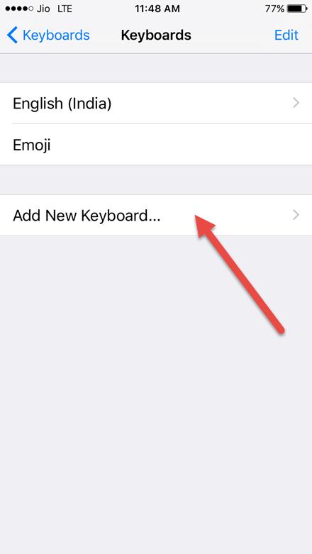 add a new keyboard