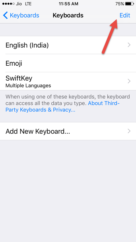 remove third party keyboard
