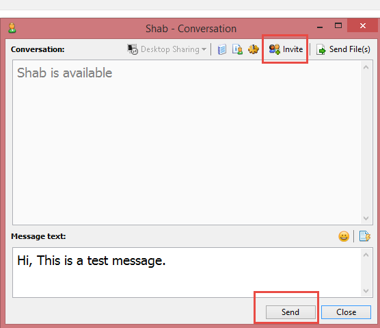 chat with other users