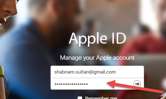 log in to apple id