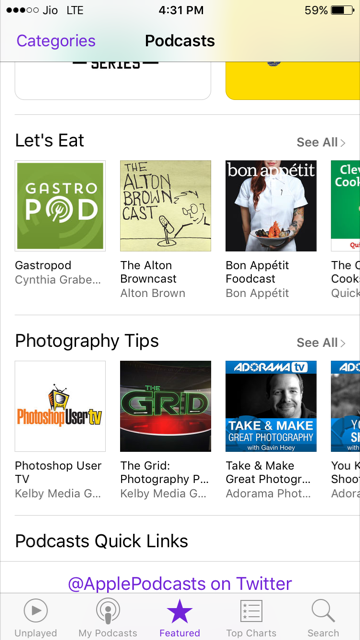 search podcasts on iphone