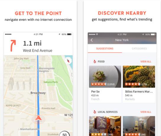 Karta GPS app for iphone