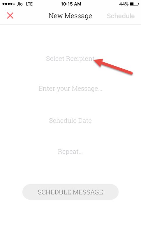 Select recipient