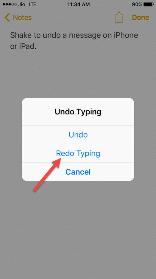 redo typing