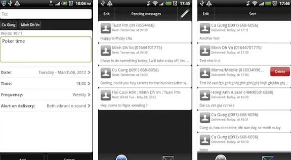 schedule sms app