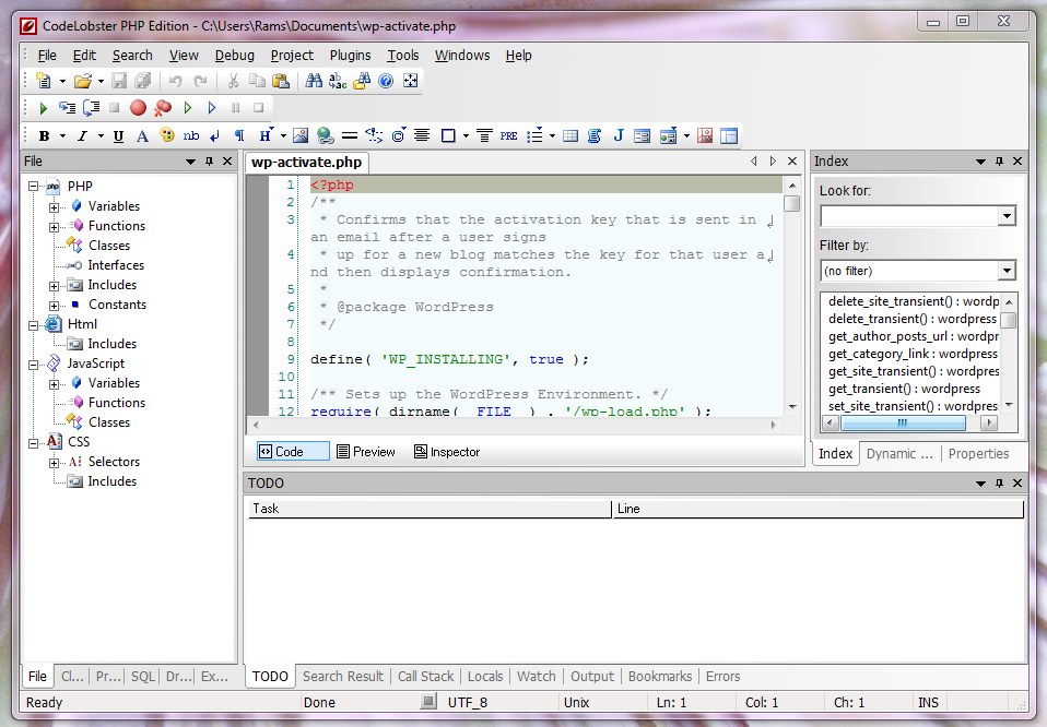 CodeLobster IDE- Free PHP, HTML, CSS, JavaScript Editor
